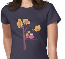 Owls 3 Womens Fitted T-Shirt