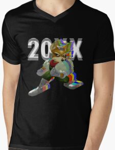 Fox 20XX Mens V-Neck T-Shirt