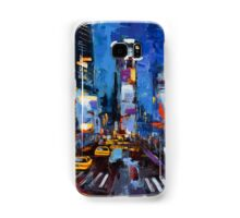 Saturday night in Times Square Samsung Galaxy Case/Skin