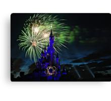 Fireworks Display over the Disneyland Castle Canvas Print