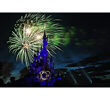 Fireworks Display over the Disneyland Castle Photographic Print