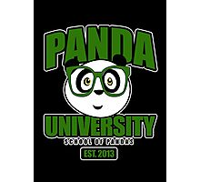 Panda University - Green 2 Photographic Print