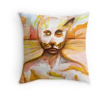 Journal page - Cat people dream  Throw Pillow