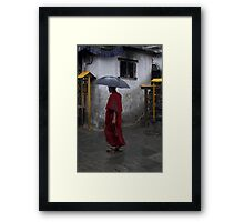 Monk at Namohbuddha, Nepal Framed Print