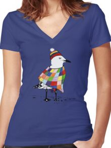 Chilli the Seagull T-shirt Women's Fitted V-Neck T-Shirt