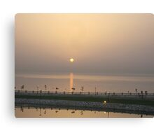 sunrise in alkhobar Canvas Print