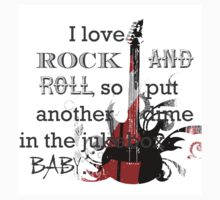 I LOVE ROCK AND ROLL Kids Tee