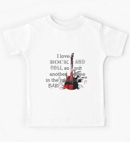 I LOVE ROCK AND ROLL Kids Tee