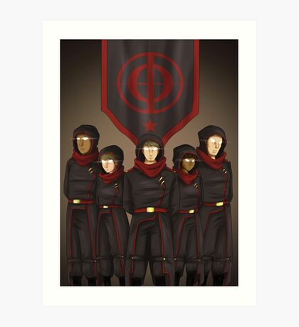 The Red Battalion Art Print