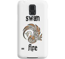 Swan Fire Merchandise Samsung Galaxy Case/Skin