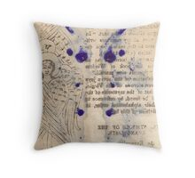 Journal page Throw Pillow