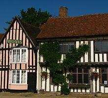 Houses in Market Place, Lavenham, Suffolk by wiggyofipswich