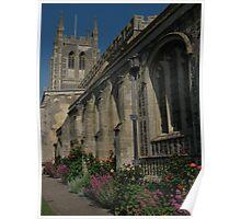 Church Yard Flowers, Long Melford, Suffolk Poster