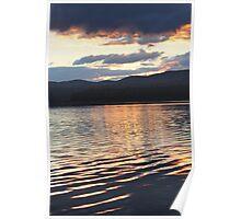 blue rock sunrise Poster