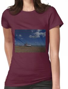 Shingle, Boats, and Puffy White Clouds Womens Fitted T-Shirt