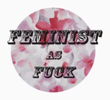 Feminist as fuck One Piece - Short Sleeve