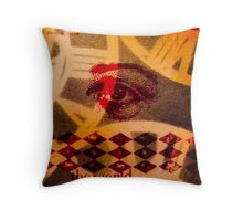 Vintage tag 13 Time Throw Pillow
