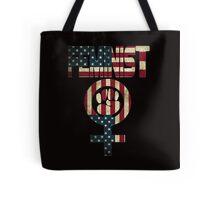 FEMINIST DESIGN AMERICAN FLAG Tote Bag