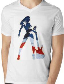 AMERICAN WOMAN Mens V-Neck T-Shirt