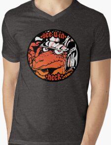 see u in heck  Mens V-Neck T-Shirt