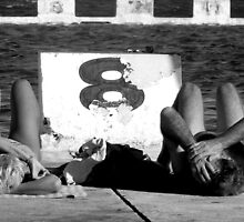 Sunbathers by gilleebee