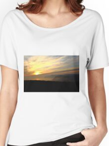 Reaching The Clouds At Jurassic Coast, Dorset Women's Relaxed Fit T-Shirt