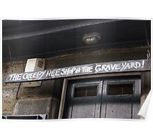 the creepy wee shop in the graveyard Poster