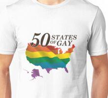 50 States of Gay Unisex T-Shirt
