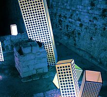 """Light in Jerusalem - """"And the City shall be Built upon her own Mound"""" I by Igor Shrayer"""