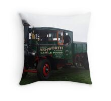 Old Steam Engine 10 Throw Pillow