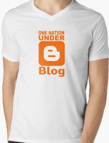one nation under blog.... Mens V-Neck T-Shirt