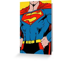 Superman - Stylized Digitally painted  Greeting Card