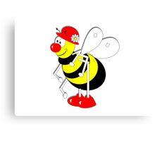 Cute Cartoon Buzzy Bee  Canvas Print