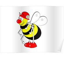 Cute Cartoon Buzzy Bee  Poster