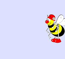 Cute Cartoon Buzzy Bee  by Artification
