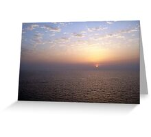 Picture Perfect Sunset  Greeting Card