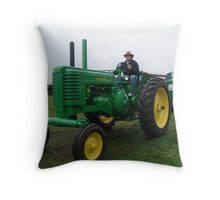 Old Tractor John Deere Throw Pillow
