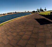 Toward Marina,Glenelg,South Australia by Max R Daely