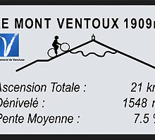 Mont Ventoux Road Sign Replica Print or Metal by movieshirtguy