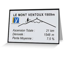 Mont Ventoux Road Sign Replica Print or Metal Greeting Card