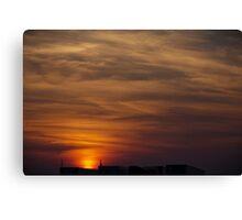 A Trucker's Sunset Canvas Print
