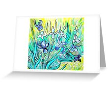 Lilies - My Hommage to Van Gogh Greeting Card