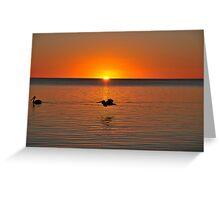 Sunset at Karumba Queensland Greeting Card