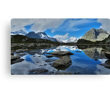Mountain reflections of Jungfrau, Eiger and Mönch Canvas Print
