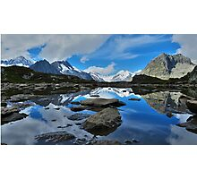Mountain reflections of Jungfrau, Eiger and Mönch Photographic Print