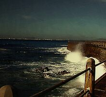 Sea Wall at Night by RC deWinter