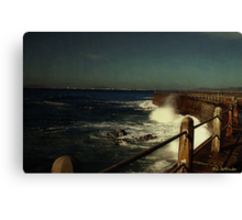 Sea Wall at Night Canvas Print