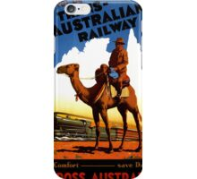 Australia Railway Vintage Travel Poster iPhone Case/Skin