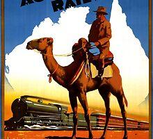 Australia Railway Vintage Travel Poster by Carsten Reisinger