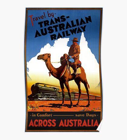 Australia Railway Vintage Travel Poster Poster